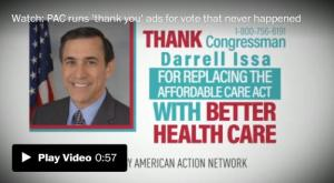 <font color='#0000ff'>[Video] After health-care bill dies, ads air thanking Republicans for replacing Obamacare</font>